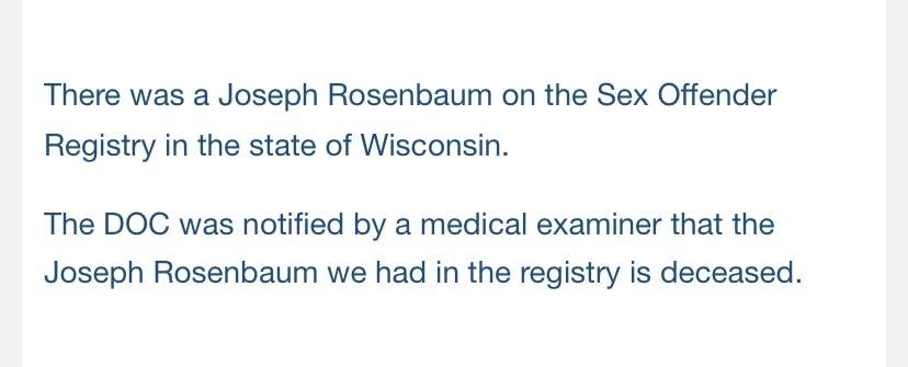 Joseph rosenbaum & anthony huber