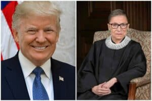 trump learns of ruth bader ginsburg's death