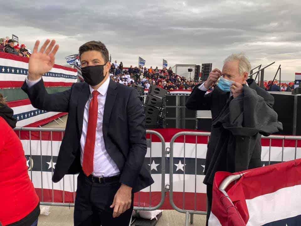 trump janesville masks