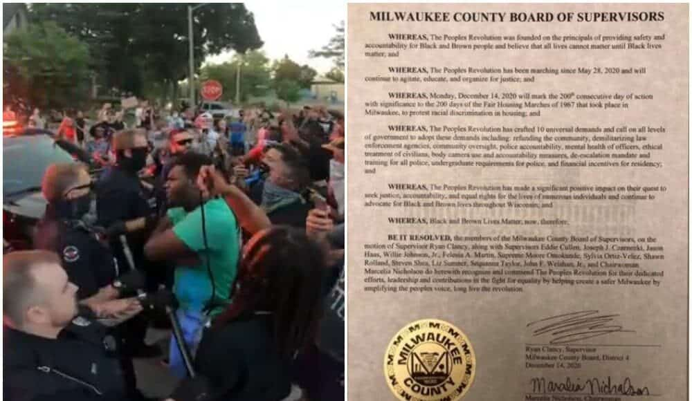 Milwaukee county board blm
