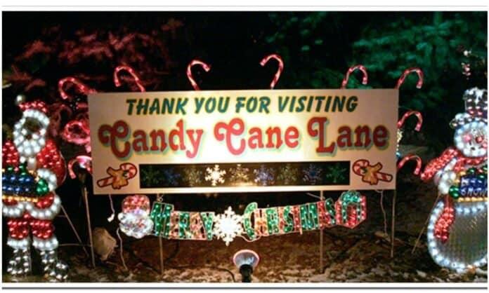 Candy cane lane blm