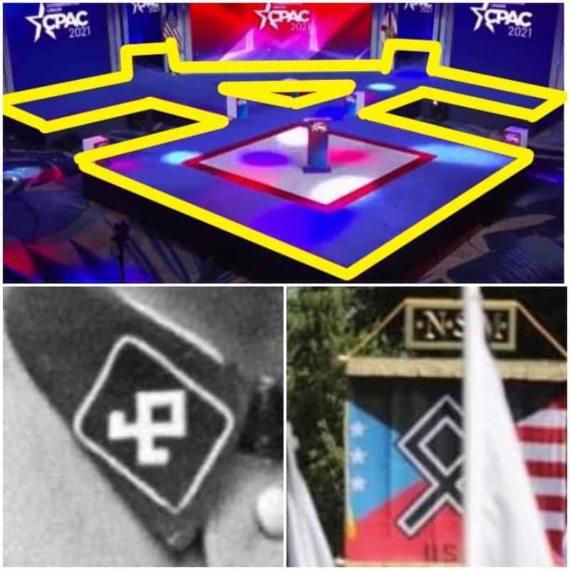 Cpac nazi stage