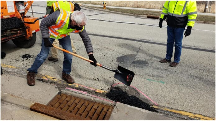 tony evers potholes