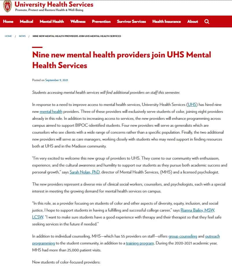 Madison mental health counselors